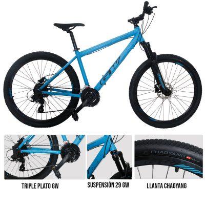 Una de las bicicletas para hacer deporte es la bicicleta todoterreno hyena gw