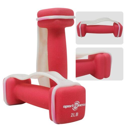 Mancuernas de Neopreno, un producto ideal para Deporte en Casa, disponible en Deportes Regol
