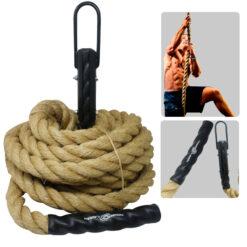 Ejercicios en Casa es mejor si cuentas con una cuerda para escalada. Somos Deportes Regol.