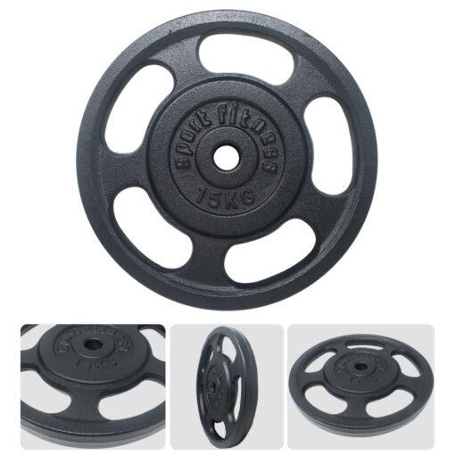 Fitness en Casa es una opción con los productos de Deportes Regol. Disco de gimnasia color negro